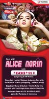 Flayer Alice Norin Telkomsel by gravicious