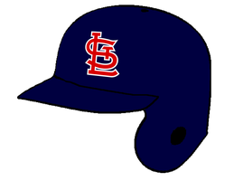 St. Louis Cardinals navy batting helmet by Chenglor55