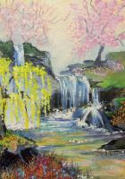 ACEO Spring Falls by annieoakley64