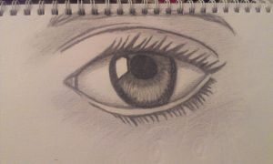 Realistic eye by ivLala