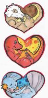 Pokemon Hearts by BlackSandPiper