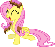 Caked-Up Fluttershy by Ahkreem