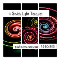 4 Swirls Light Texture Set by graphicavita