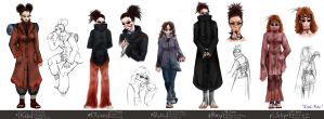Aburame Clan Members 1 by Lithe-Fider