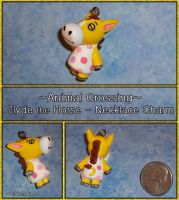 Animal Crossing - Clyde the Horse Necklace Charm by YellerCrakka