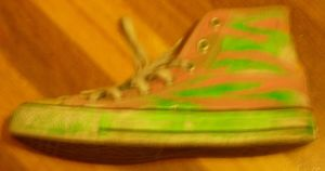 Neon Zebra Shoes: close-up by mogana
