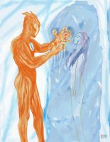 Fire and Ice the Human Element by Enseethis