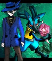 Riley and Lucario by Katay