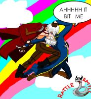 Dante and Vergil-Crack ver- by jeanetteRyokuX