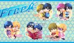 Iwatobi Swim club Couple Keychains Preorder! by Squ-chan
