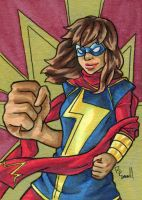 Miss Marvel Kamala Khan by ibroussardart