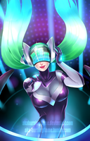 Pump it up! Dj Sona by AKABurningFlame