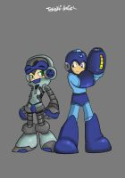 Megaman and Beck by TeNsHi-AnGeL