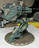 Painted DUST Tactics mech by Durnstaros