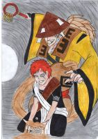 gaara and monster by fairyloves