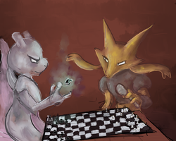 Playing Chess by basicallycat