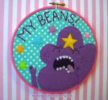 MY BEANS! Lumpy Space Princess Embroidery by iggystarpup