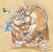 Slurg the Destroyer by WarBrown