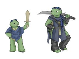 TMNT AU: Then and Now by Mosrael-the-Waker
