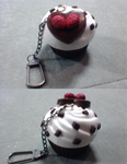 Chocolate Chip Ice Cream Cupcake Key Chain by SweetSugaRush