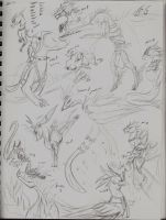 Kahili's pack sketch dump by Yaramazara