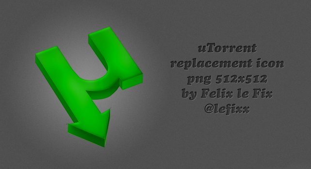 Utorrent replacement icon by FeleekS