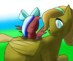 Eagleheart and little filly Airheart.... by TheTimeLordMarshal