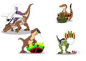 Jurassic Chibi by March90