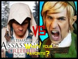 Ultimate Assassin's Creed song VS. Zelda rap by BrookeCPhotography