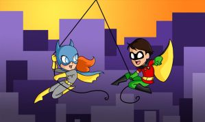Swinging through Colorful Gotham by Allam