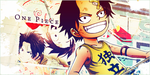 Ace and Luffy by Halenden