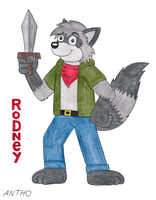 Rodney the raccoon by AnthoFur