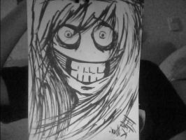 Jeff the killer gray by pbo-artistica