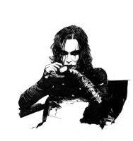 The Crow - fun with inking by the-four-treasures