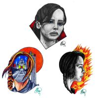 THE HUNGER GAMES TATTOO FLASH - Katniss by Mewax42