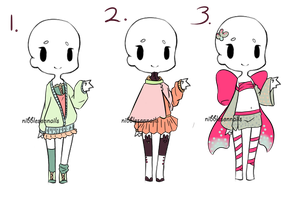 Adopt an Outfits -Closed- by nibblesonnails