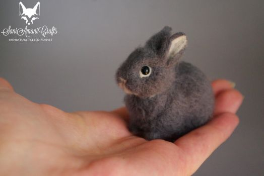 needle felted bunny - tt by SaniAmaniCrafts