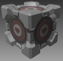 Aperture Science Weighted Companion Cube by JasonXL