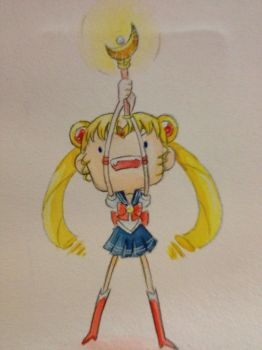 PGSM: Sailor Moon Mini Watercolor by Nattosoup