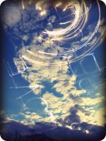 peace and love written in the sky by x--photographygirl