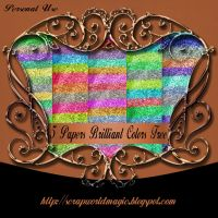 5 Papers Brilliant Colors Free by weezya