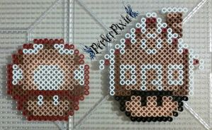 Gingerbread Mushrooms by PerlerPixie