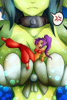 Shantae the big catch by artist-apprentice587