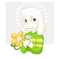 Undertale Rose Collection - Asriel by CubedCake