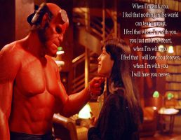 Hellboy: When Im With You by Kyukitsune