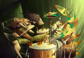 Hitting the Drums by YopparattaNoSaru