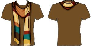 T-Shirt Design Comp Scarf by louisesaunders