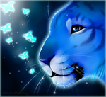 Blue tiger FREE ICON+Speedpaint by Yechii