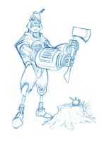 Tin Man Rough by borogove13