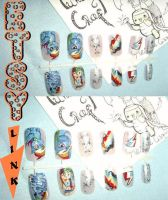 Rainbow Dash false nails ETSY by MesiaszCiszy